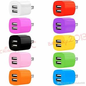 삼성 갤럭시 S4 S6 S7 에지 주 4 5 PC의 MP3를위한 듀얼 USB 포트 미국 유럽 연합 (EU) 행 홈 여행 벽 충전기 전원 어댑터