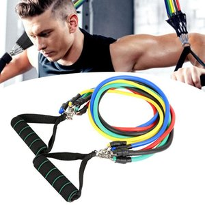 Resistance Bands Set 11pcs kit Outdoor Indoor Sports Elastic Resistance Bands Workout Exercise Pilates Yoga Crossfit Fitness Tubes Pull Rope