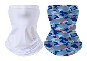 Sublimation magique Turban blanc Bandanas Transfert thermique Homme Femmes Foulard multifonctionnel cou de transfert de chaleur d'impression Bandeau Bandeaux A02