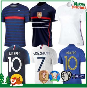 2020 France MBAPPE Griezmann Pogba de 2021 Maillot de football de football chemises maillot de foot