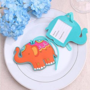 FREE SHIPPING(100pcs lot)+Lucky Elephant Luggage Tag Baby Shower Favors Wedding Party Giveaways Gift to Guest