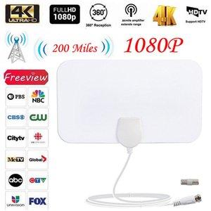200 Mile Faixa Antena de TV Digital HD Skylink 4K Antena Digital HDTV Indoor 1080p TV Antenna 3E05