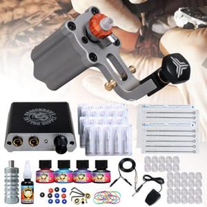 Kit de tatuaje de pistola giratoria Máquina giratoria aerodinámica Mini fuente de alimentación Agujas desechables Tips Grip D3050