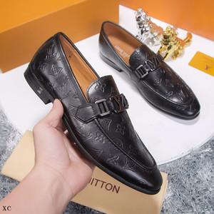 2019 chaussures hommes DESIGNERS cuir de luxe décontracté, plus de taille sociale conduite marques Mocassins robe de mode adulte hommes fainéants