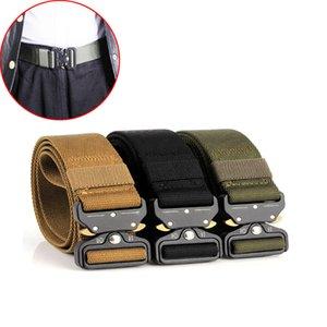 Tactical Hiking Belt Men's Outdoor Nicole Adjustable Metal Buckle Dragon Belt Quick Release Heavy Duty Training Waistband