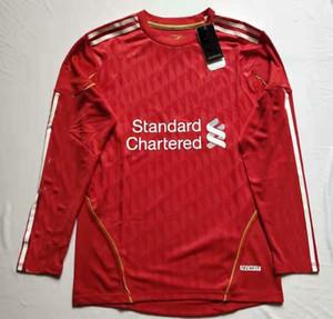 Uzun Kollu Retro Futbol Formaları 11/12 Adam Carragher Kuyt Suarez Henderson Gerrard Torres 2011 2012 Futbol Tam Gömlek