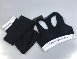 Kadınlar Yoga Seti Spor Vest + Yansıtıcı Tozluklar Spor T1TOMMY tasarımcıların eşofmanlar Tayt Koşu Tayt Spor Suit womens