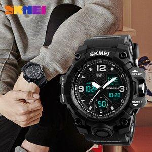 SKMEI Fashion Sports Watches For Men Shockproof Waterproof Digital Wristwatches Men Watch 2 Time Chrono Male reloj hombre 1155
