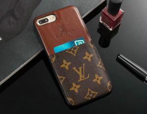 Sıcak TPU silikon yumuşak yan marka tasarım cep telefonu kılıfı iphone 10 7 7 artı 8 8 artı 6 6 artı 6 S Xs max Xr X kart yuvası ile