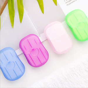 Portable Mini Box Soap Papers Outdoor Travel Washing Hand Disposable Soap Bath Clean Scented Slice Sheets Mini Paper Soap