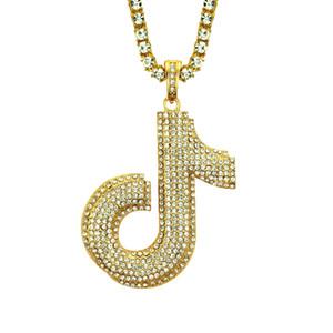 Mens Hip-hop Notes J Diamond Set Pendant European and American Jewelry Pendant