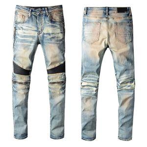 2020 дизайнер Франция high street tide AMIR jeans Европейский и американский Amiri хип-хоп джинсы ноги отверстие мода оригинальные брюки #606