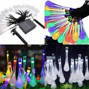 Multi цветы капелька света строка двор декорации цветные огни светодиодные солнечной энергии красочные лампы горячие продажи 22 8mt L1