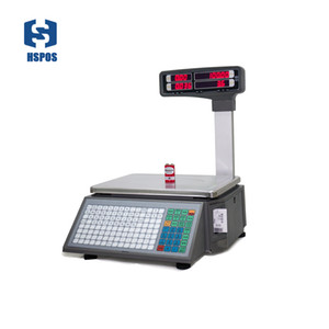 Fashion Electronic Weighing Scale With Computer Interface Support Label Printing For Fruits Seafood HS-BL16