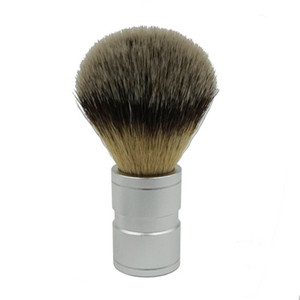 ELECOOL 1Pc Blaireau de cheveux Hommes inoxydable Poignée en métal souple synthétique en nylon Barbier outil Pinceau de rasage confortable
