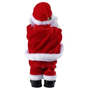 Creative Christmas Electric Santa Claus Singing Dancing Saxophone Doll Toy New Year Gift for Children Toy Navidad Xmas Decor