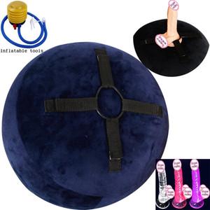 Aufblasbare Sex Stuhl sitzen Kugel Austauschbare Dildo Vibrator Sex Sofa-Möbel Erotic Luftpumpe Stuhl weiblich Masturbator Erwachsener Spiel mit der Lust