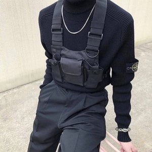 2019 New Nylon Chest Rig Bag Schwarz Weste Hip Hop Streetwear Funktionelle Tactical Harness Chest Rig Kanye Bag