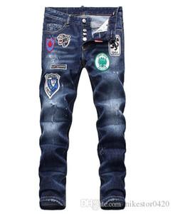 Verão 2019 jeans homens por atacado, a produção de denim europeu de desgaste de boas-vindas de qualidade dos homens bons para o tamanho 28-38: 44-54 033
