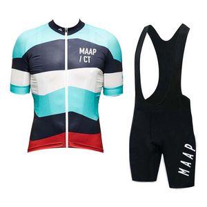 MAAP Team Summer Ciclismo manica corta Pantaloncini in jersey Set bici da strada traspirante ad asciugatura rapida Completo divisa sportiva per biciclette Y080906