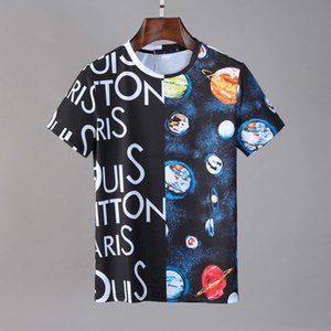 2020 New hot sale Luxury Europe Leisure men T shirt Contrast Patchwork Tshirt Fashion Medusa Mens Designer Short sleeve T Shirt