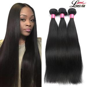 8A non transformés droit brésilien Bundles Cheveux brésiliens humains cheveux raides Trame 8-28 Vierge droit brésilien Extension de cheveux humains