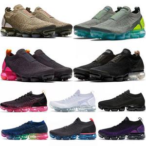 vapormax flyknit vapormaxMOC BUHARLAR FLY ÖRGÜ HAVA Minder Laceless Womens Ayakkabı Üçlü Siyah Volt NEO TURKUAZ Tasarımcı maxs Sneakers moda Eğitmenler Koşu
