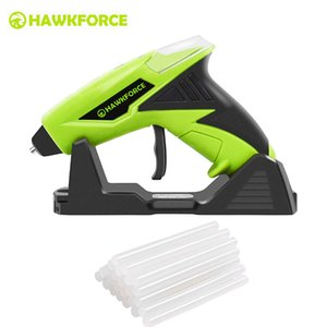 Tools 4V Cordless Hot Melt Glue Gun HAWKFORCE Rechargeable USB Fast Heating Home Class DIY Power Tools with Glue Sticks for Kids Adult
