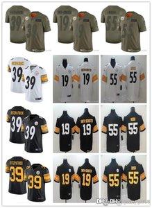 Men Women PittsburghSteelersyouth 19 JuJu Smith-Schuster 55 Devin Bush 39 Minkah Fitzpatrick Football Jerseys