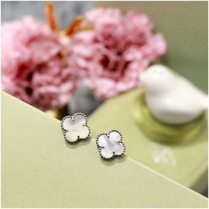 Orecchini di trifoglio a quattro foglie di acciaio inox per le donne Elaborate orecchini per le donne Party Designer di lusso gioielli donne orecchini con scatola