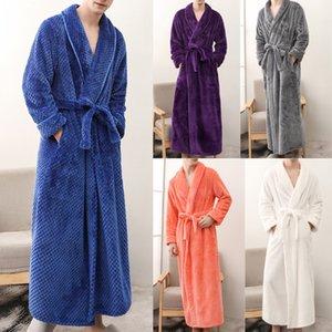 Hiver rallongés hommes peignoir Accueil Vêtements Châle Robe manches longues hommes peignoir robe manteau hommes Albornoz hombre Livraison gratuite