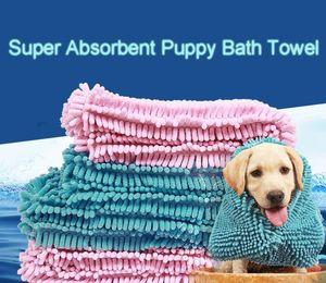 Fiber Hızlı Kuruyan Su Pet Banyo Havlusu Süper Emici Yavru Mat köpekler Battaniye Yumuşak Kedi Banyo Pratik Kalıp Geçirmez Kolay Temiz DH0320