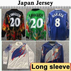 98 Japão SOMA AKITA Mens Okano NAKATA Retro de manga comprida de Futebol Selecção Kawaguchi Goleiro Casa Fora 95 KAZU Football Shirt