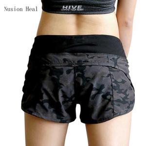 Nusion Heal Womens Running Shorts 2 in 1 Laufhosen Kurze Damen Gym Cool Woman Sport Kurze Fitness Damen Laufhose C19041101