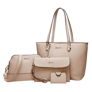4 PC-Mode Frau Beutel gesetzte Art und Weise weibliche Geldbeutel und Handtasche Vierteiliges Umhängetasche Tasche Messenger Geldbörse 2020 Neu