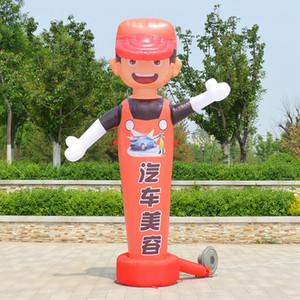 céu homem menor Dancer maluco inflável acenando tubo homem do ar dançarina Coelho lavagem de carro modelo de desenho animado e opnening restrant ou negócio