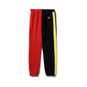 Womens Marka Sweatpants Patchwork Pantolon Günlük Koşucular Pantolon Bay Bayan Hip Hop Lüks Sweatpant Siyah 2020701V için 2020 Tasarımcı Pantolon