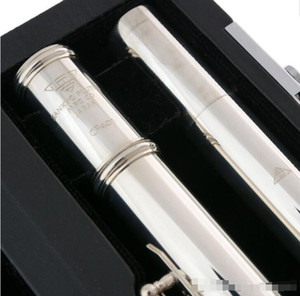 Sankyo CF401 FLAUTA ETUDE C Tecla E Dividir franceses Botones profesional plateado Flute tono de C 17 agujeros abiertos flauta de copia