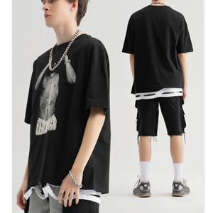 Erkekler Tasarımcı T Gömlek Lüks Baskı Erkek Marka Baskılı Tişörtler 2020 Toptan Erkek Vintage Tide Sokak Tshirts Hiphop Gevşek Tees Tops