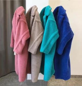 2019 Ins Design Hot 100% laine étoiles faveur veste hiver chaud manteau oversize outwear mouton véritable peau de mouton manteau de fourrure en peluche manteau T191121