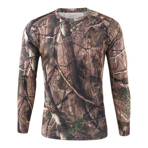 Men Camouflage T Shirt Tactical Combat Quick-drying Casual Long Sleeve Shirt Soldiers Multicam Camo Tops Clothing