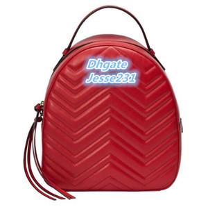 Cuoio di alta qualità di nuovo modo di Marmont donne dell'unità di elaborazione dei bambini sacchetto di scuola borse zaino Lady borsa zaino borsa da viaggio
