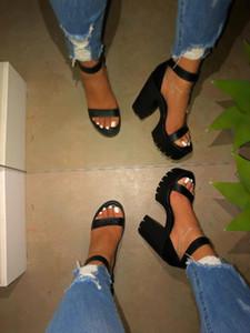 zapatos de las mujeres señoras de tacón alto sandalias de la plataforma del estilo romano de gran tamaño Bali de la vendimia de las sandalias zapatos casuales de verano Chaussures femme