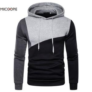 Miicoopie 2019 Hommes Hoodies Nouveau Arrivée Patchwork Sweat à capuche Sweat Hommes Streetwear MX191121