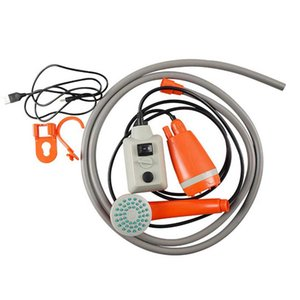Shower Set Bucket Portable Camping Nozzle Pumps Outdoor Car Home Steady USB Compact ABS Handheld Battery Powered