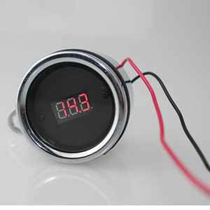 AUTO 12V Moto Modificato voltmetro digitale impermeabile Digital Voltmeter Retro Instrument Motors