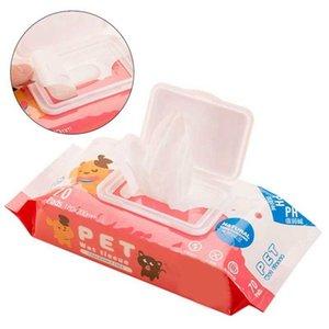 70 Pcs / sac doucement serviettes propres animaux visage yeux spéciaux lingettes en toute sécurité pour les chats Chatons Chiens été Hypoallergénique Antibact lingettes Q1