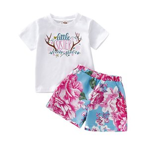 Pudcoco 2019 Summer Toddler Kids Baby Girl little sister Tops Dress Shorts Outfits Clothes Set 12M-4T