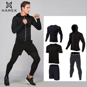 2020 new mens running trainning exercise sets quick dry jogging gym compression suit yoga fitness clothes sports basketball sets