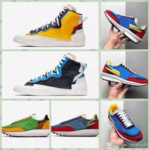 Nike LDV Waffle 2019 Meilleur Authentique Blazer Mi Haut Sacai Blanc Noir Légende Bleu Dunk Neige Plage LD Gaufre Hommes Basketball Chaussures BV0072-001 chaussures